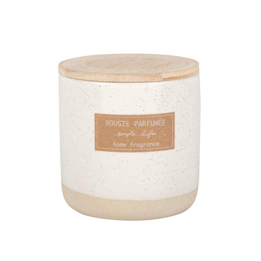 Bougie parfumée en céramique ivoire