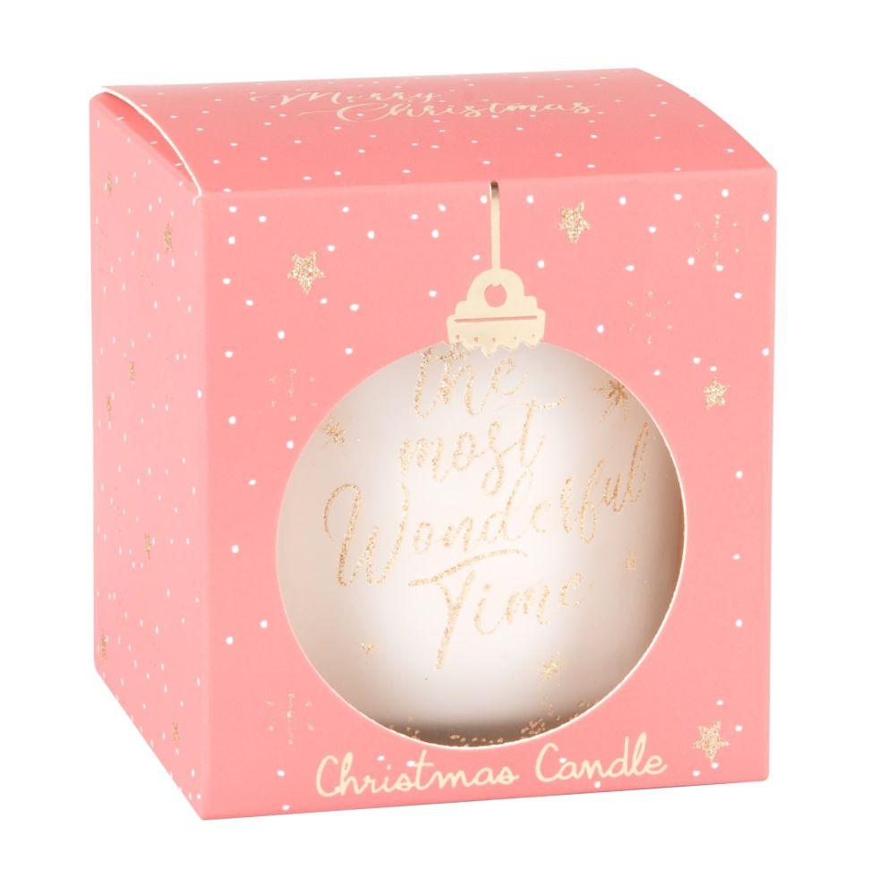 Bougie parfumée en verre imprimé rose et doré