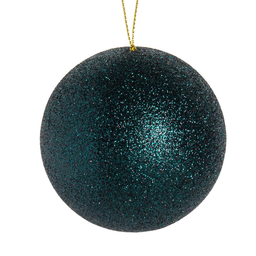 Boule de Noël à paillettes vertes