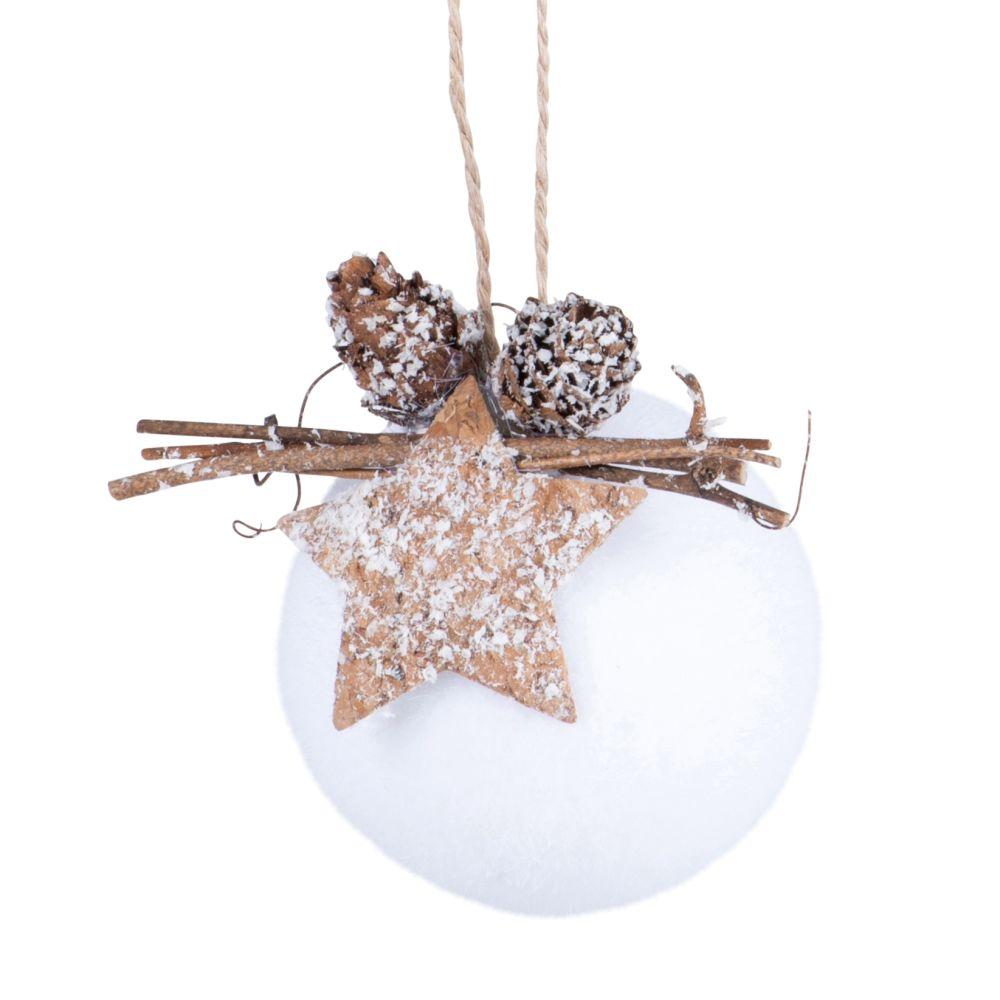 Boule de Noël blanche et marron