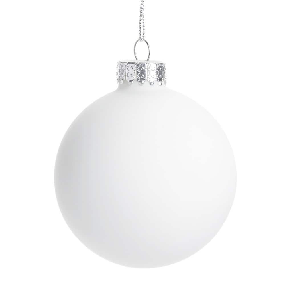 Boule de Noël en porcelaine blanche
