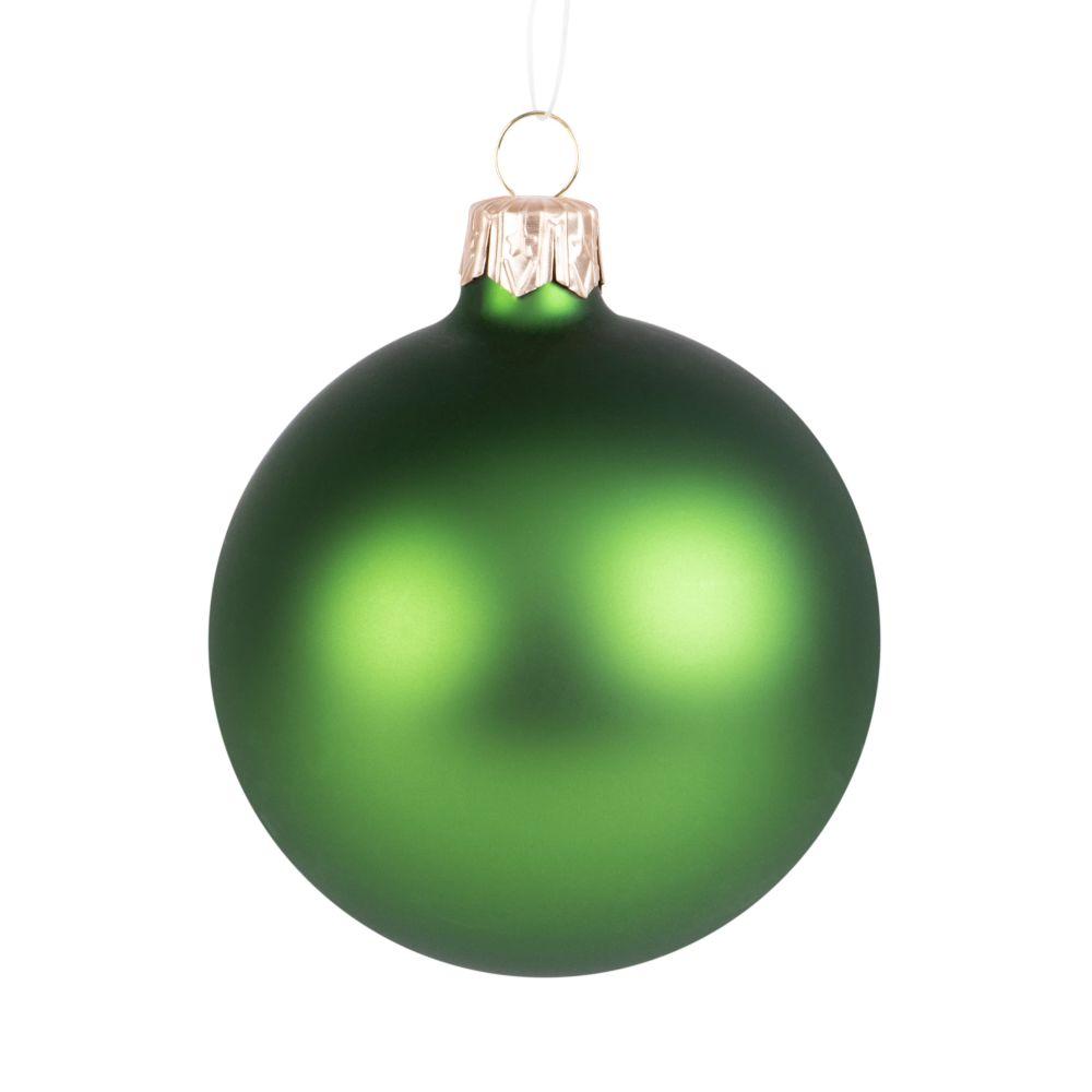 Boule de Noël en verre vert