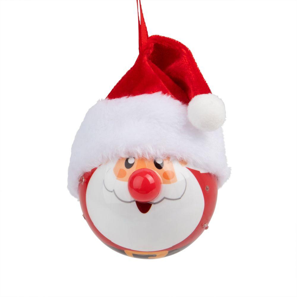 Boule de Noël lumineuse Père Noël 5 LED