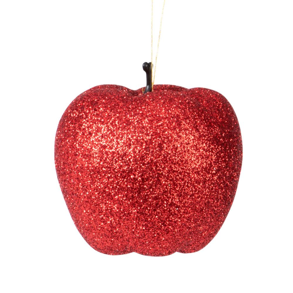 Boules de Noël pommes d'amour rouges et dorées
