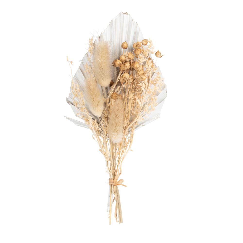 Bouquet de fleurs séchées beiges