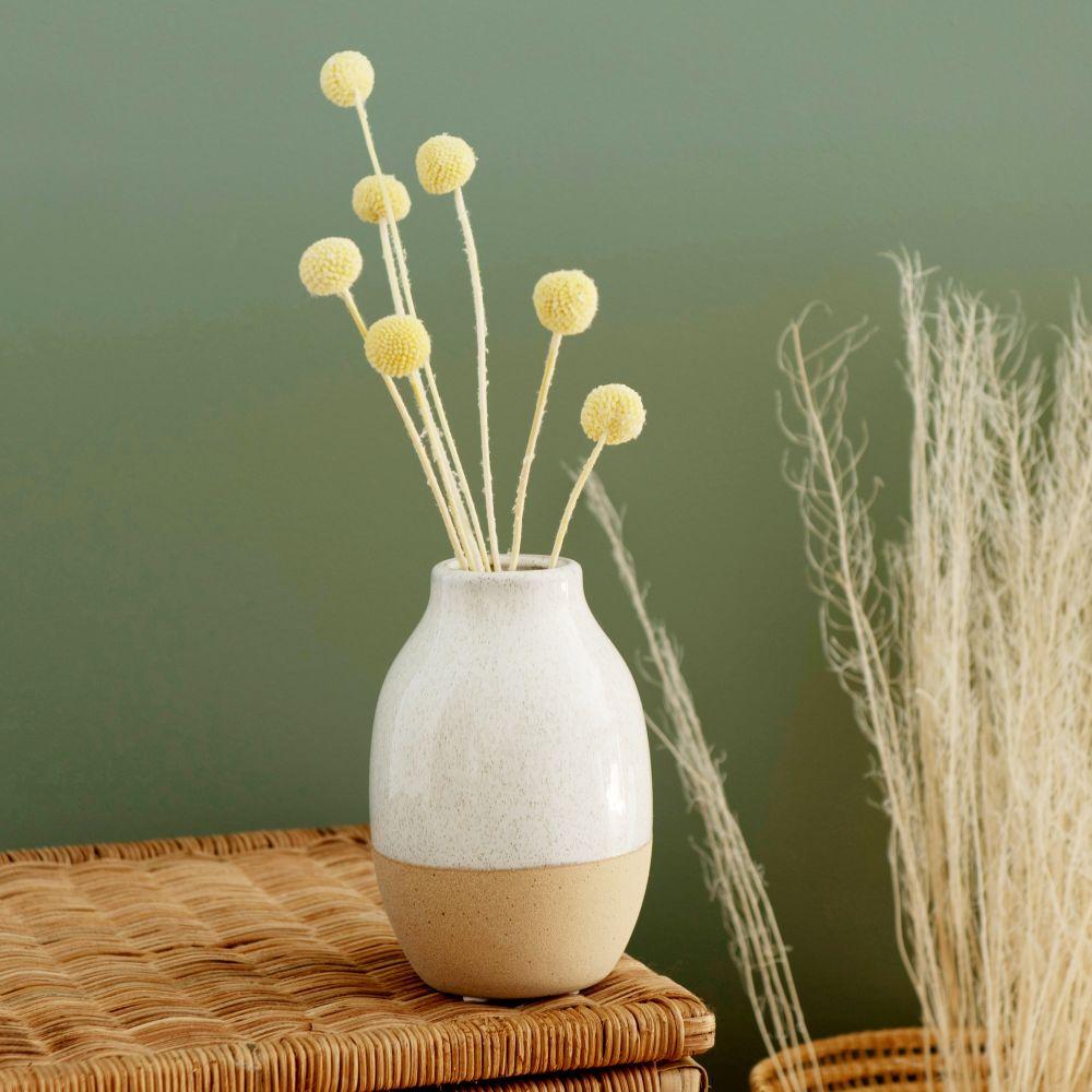 Bouquet de fleurs séchées boules jaunes