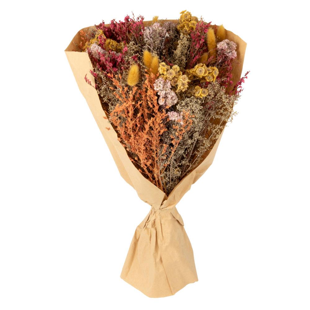Bouquet de fleurs séchées multicolores