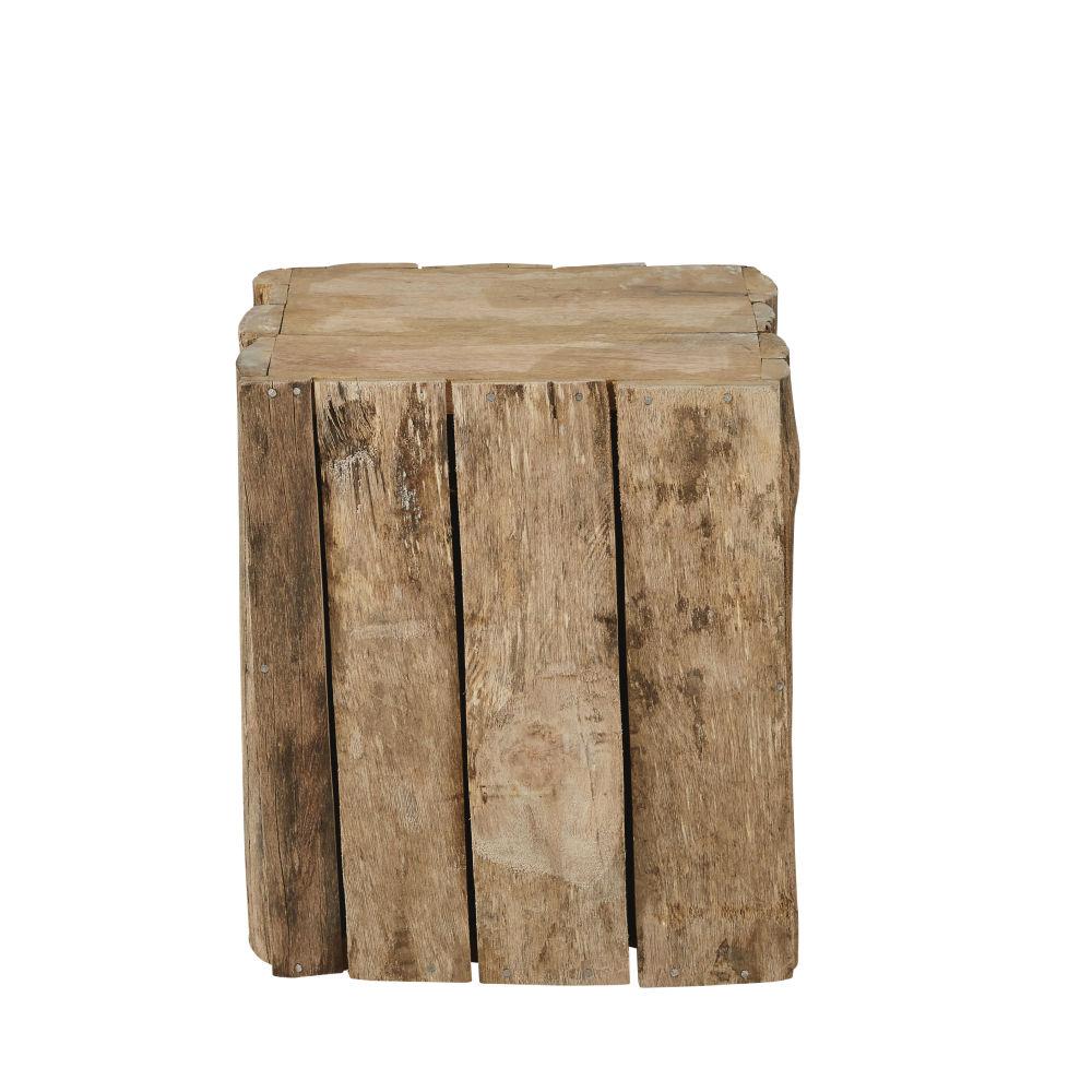 Bout de canapé en manguier et bois recyclé