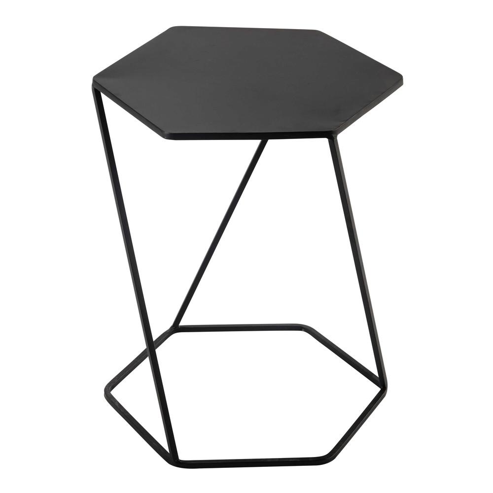 Bout de canapé en métal noir L 45 cm