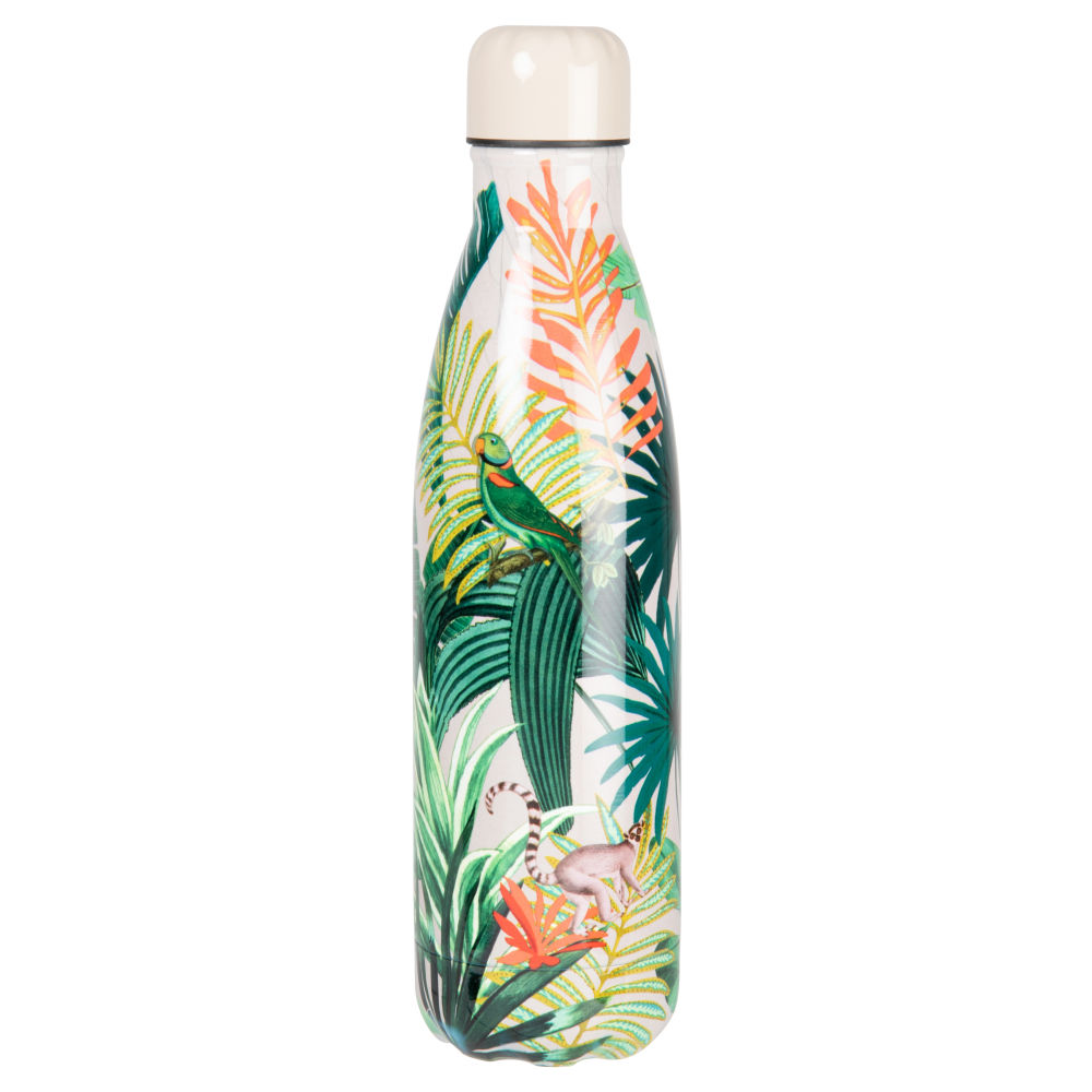Bouteille isotherme en inox imprimé tropical 0.5L (photo)