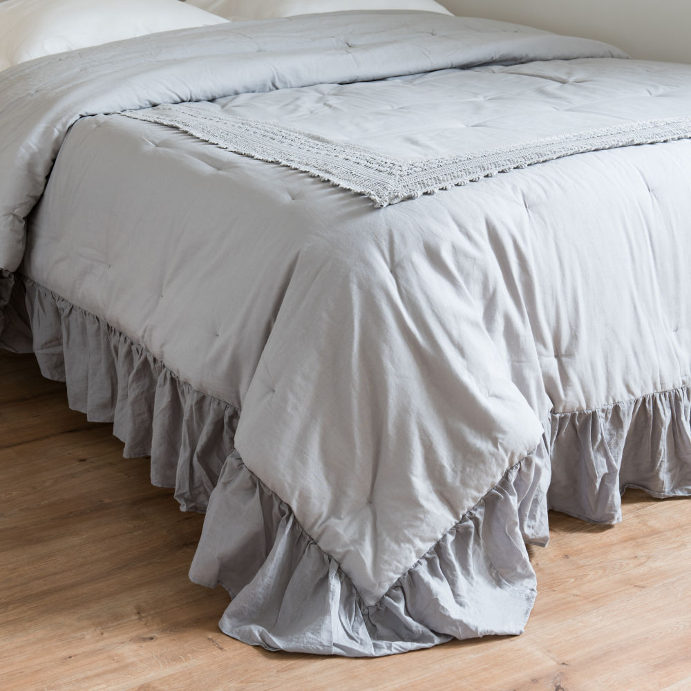 Boutis en coton gris 240x260