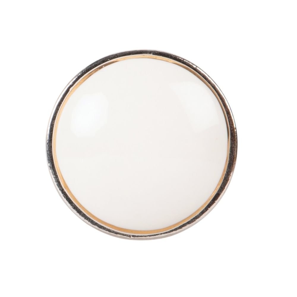 Bouton de porte en céramique blanche