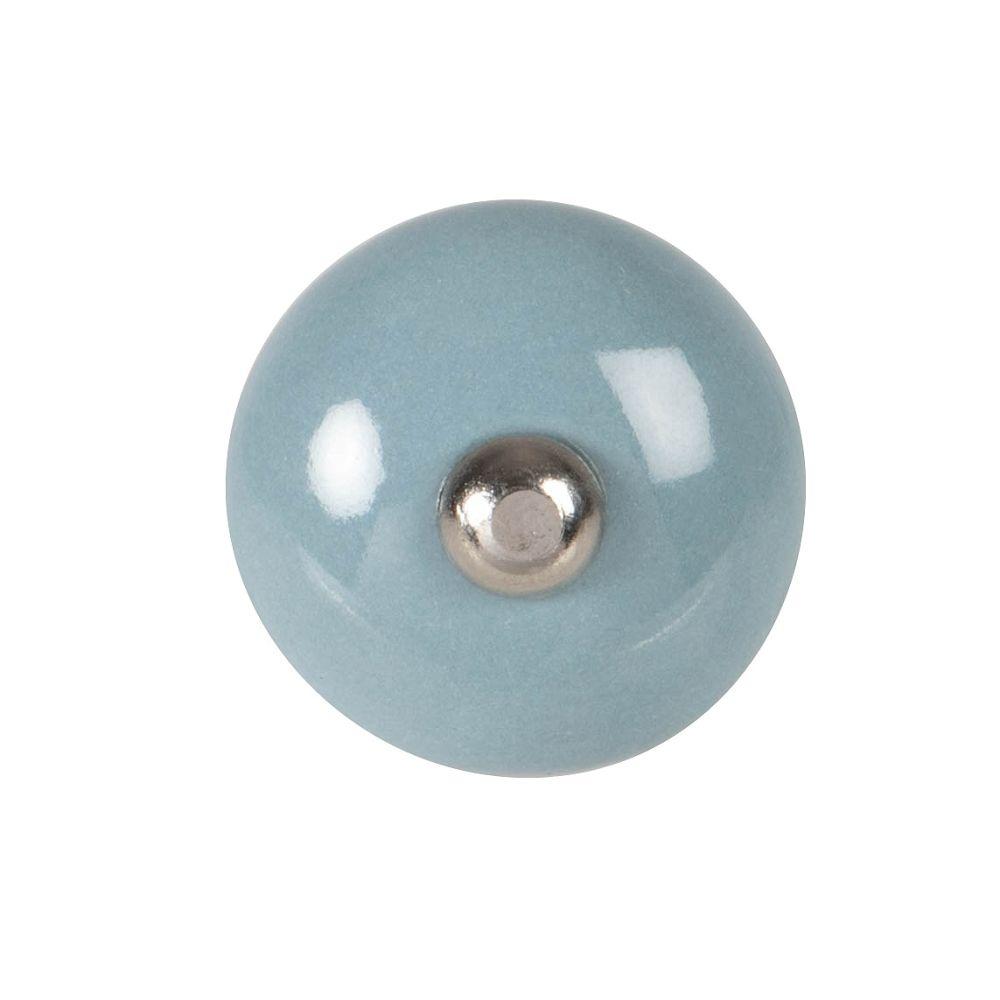 Bouton de porte en grès bleu
