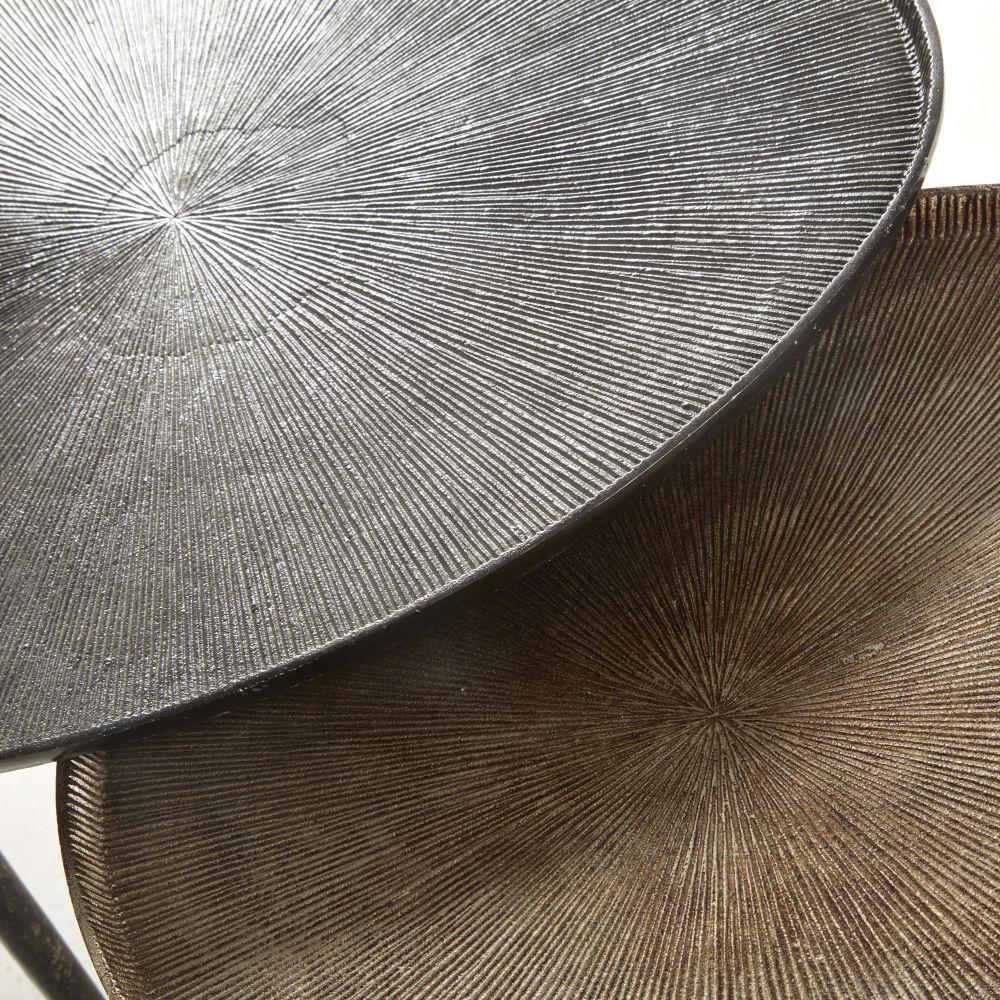 Bouts de canapé en aluminium noir et bronze (x2)