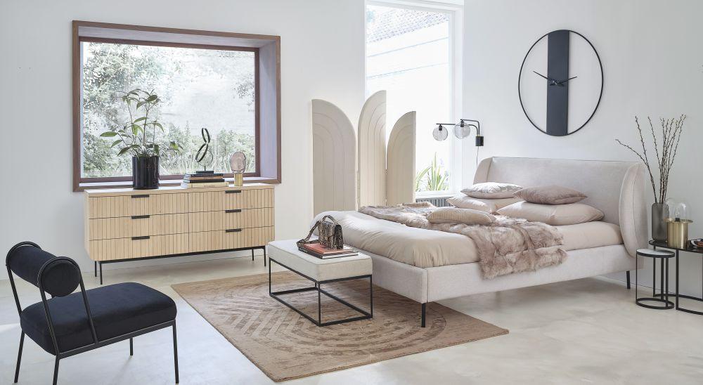 Bouts de canapé en métal noir et marbre blanc (x3)