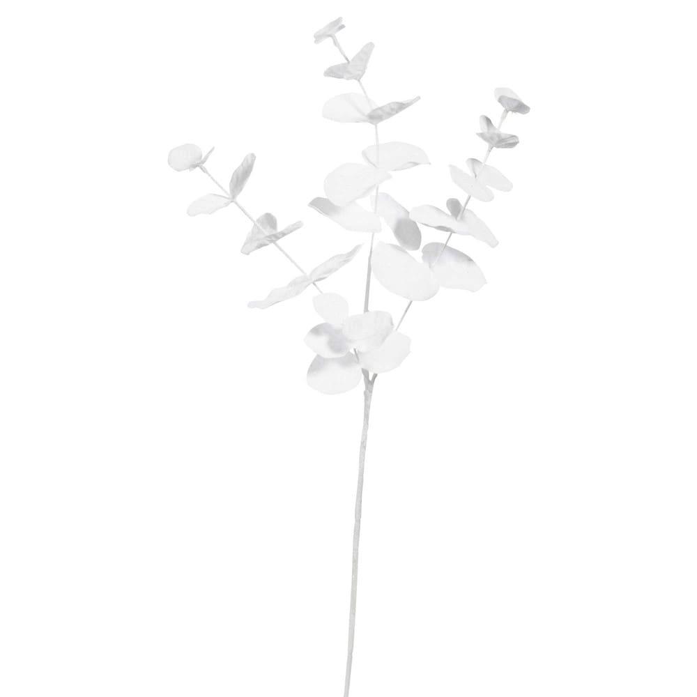 Branche artificielle eucalyptus blanc