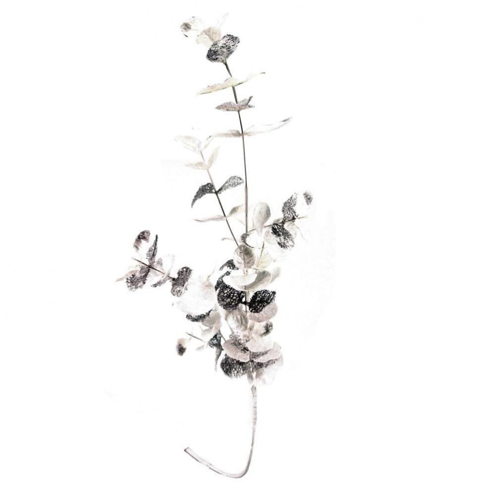 Branche artificielle eucalyptus blanc et argenté