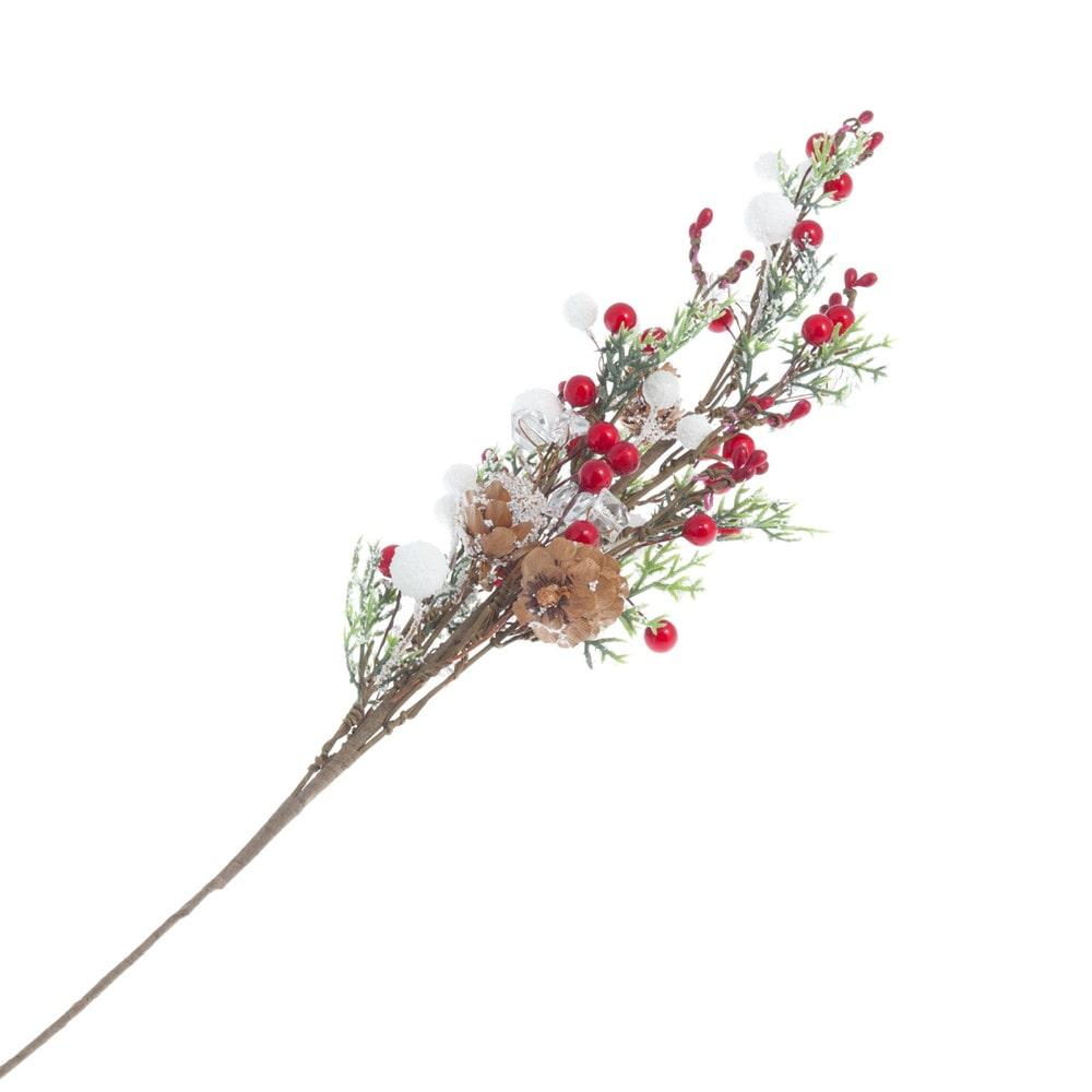 Branche artificielle rouge et blanche