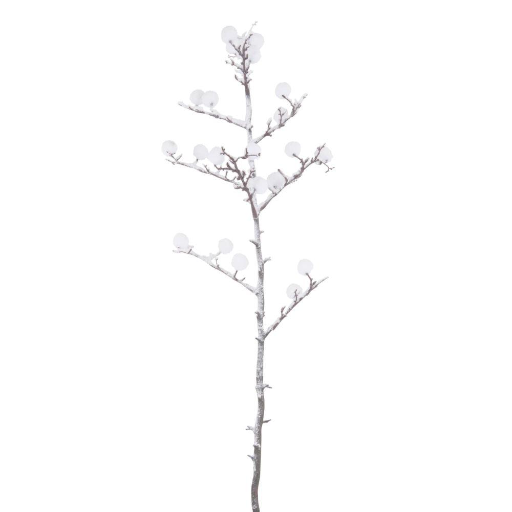 Branche d'arbre à coton artificielle effet enneigé