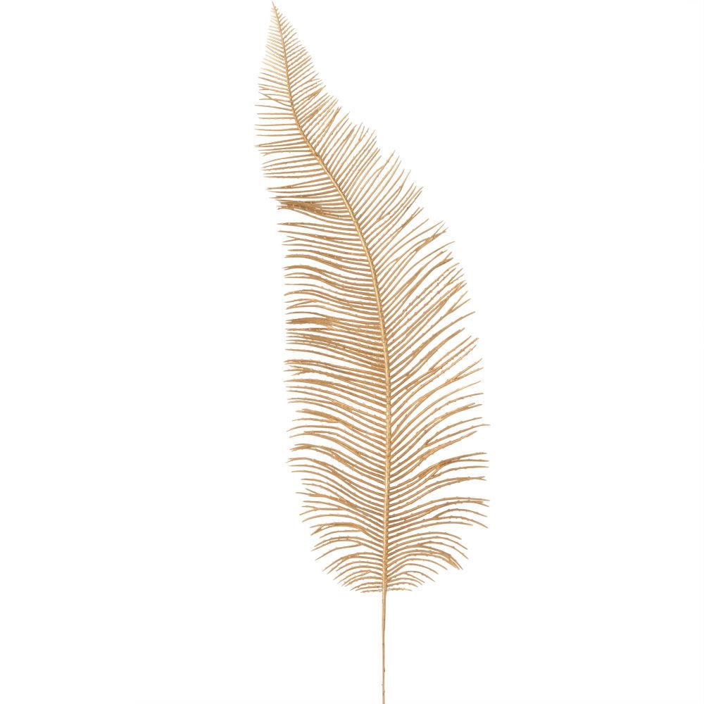 Branche de feuille de palmier dorée