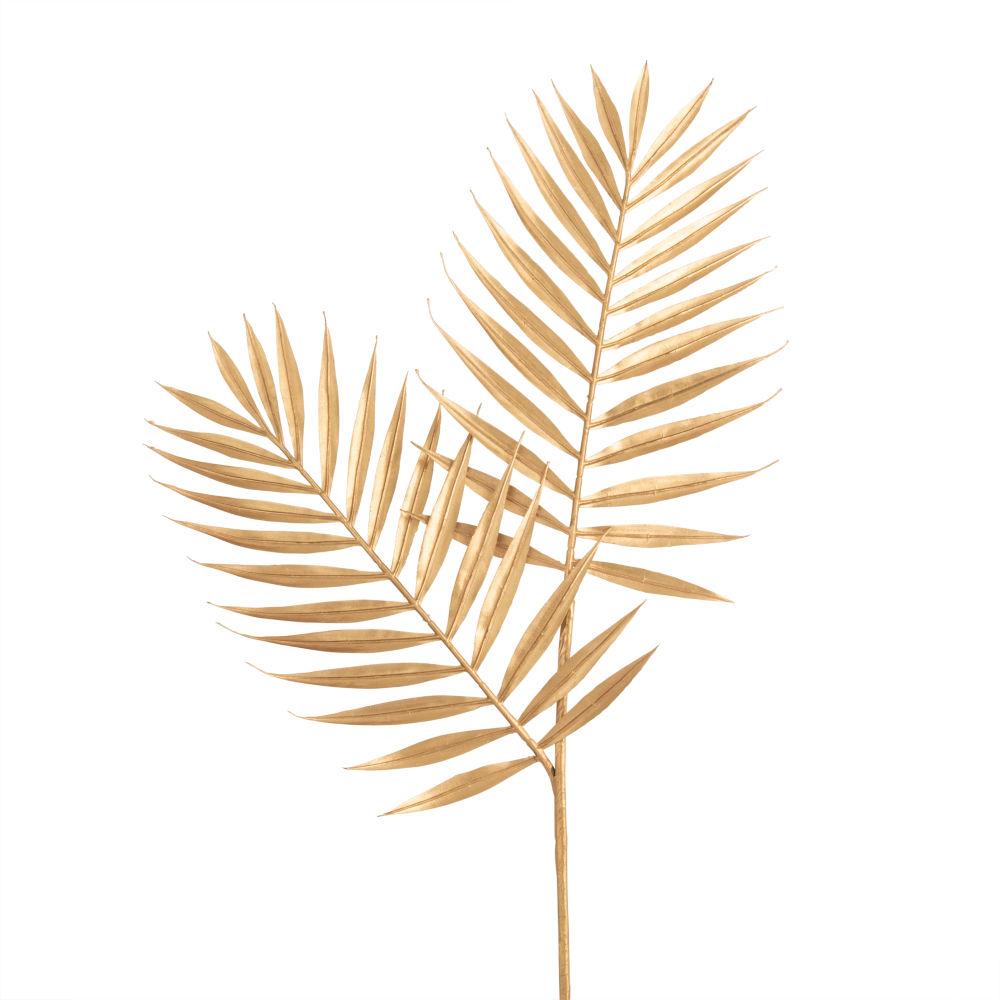 Branche de feuilles de palmier dorée
