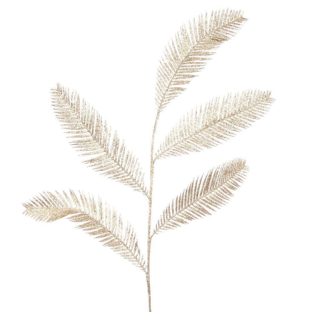 Branche de Noël à plumes dorées