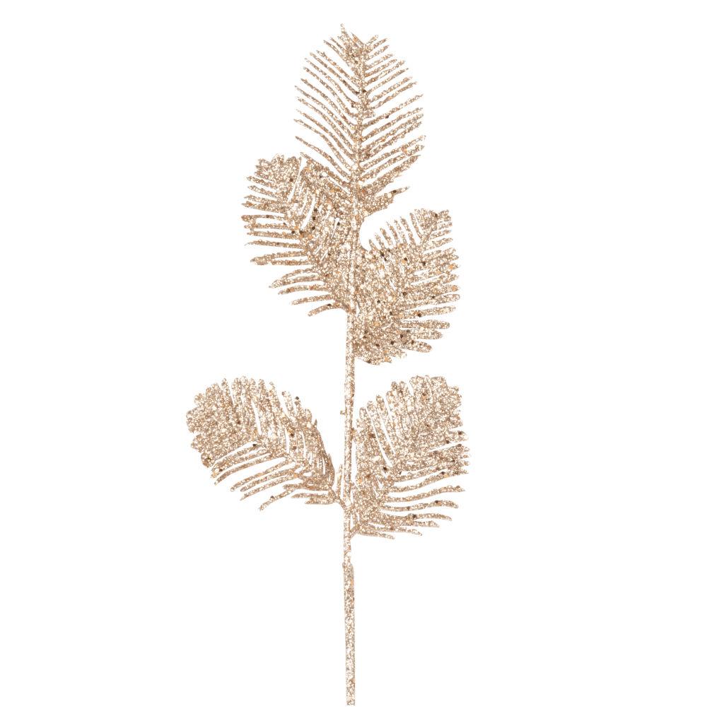 Branche de Noël châtaignier dorée