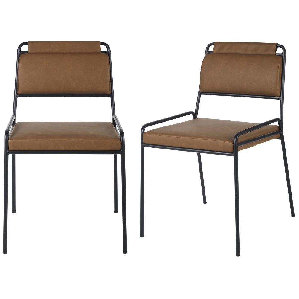 Bruine Bureaustoelen Voor Professioneel Gebruik (x2)