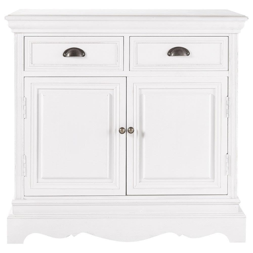 Buffet en bois de paulownia blanc L 86 cm