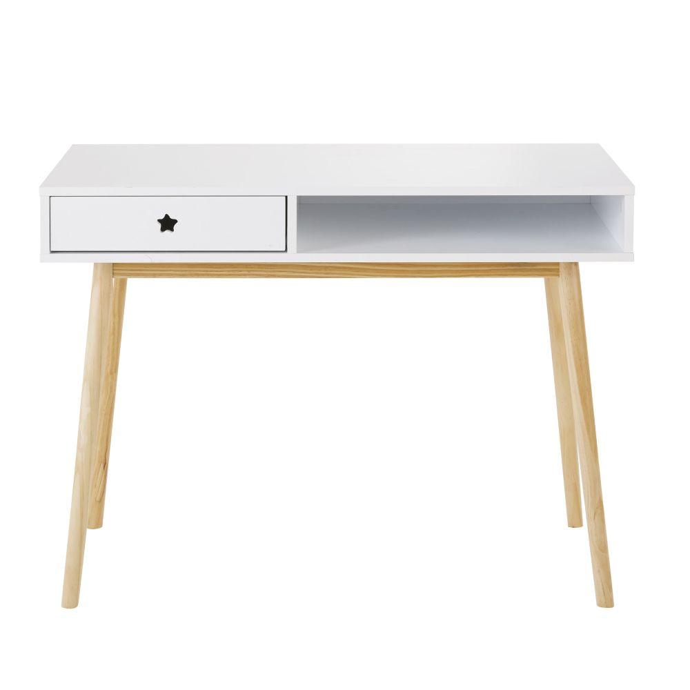Bureau 1 tiroir blanc