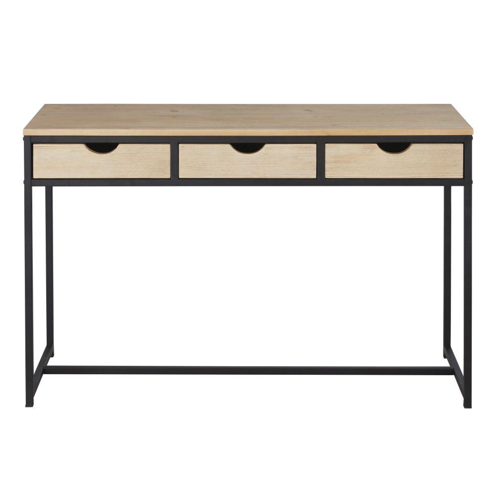 Bureau console 3 tiroirs