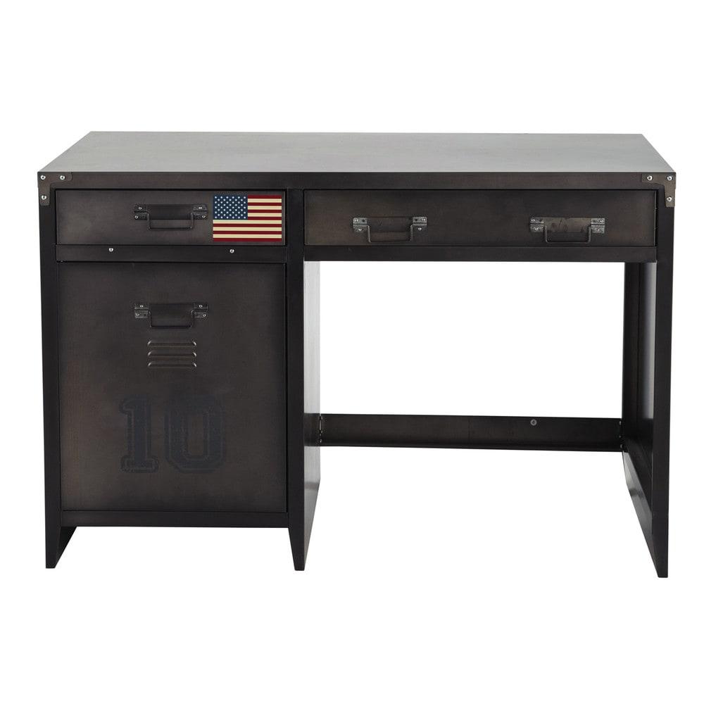 Bureau indus 1 porte 2 tiroirs en métal