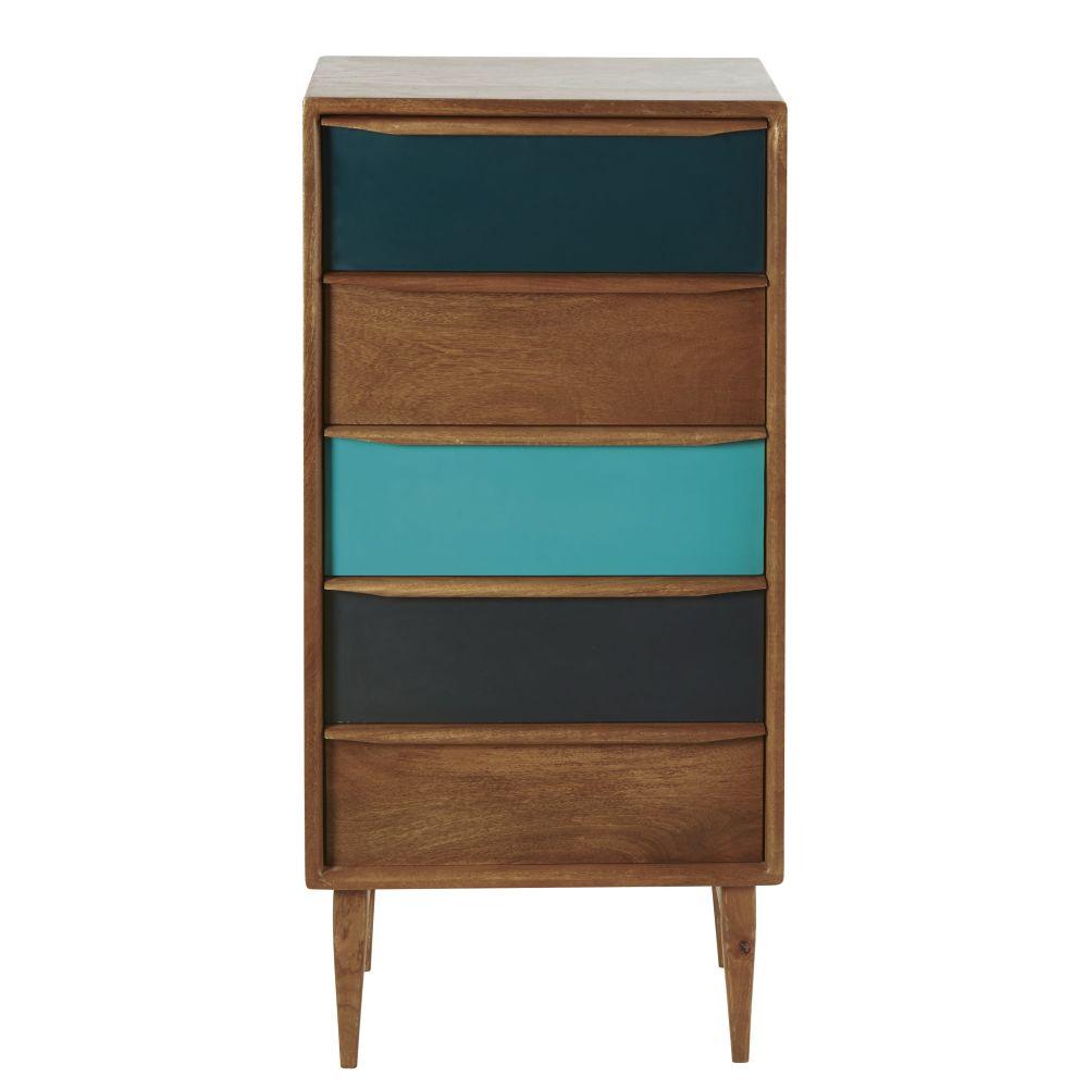 Cabinet 5 tiroirs en manguier