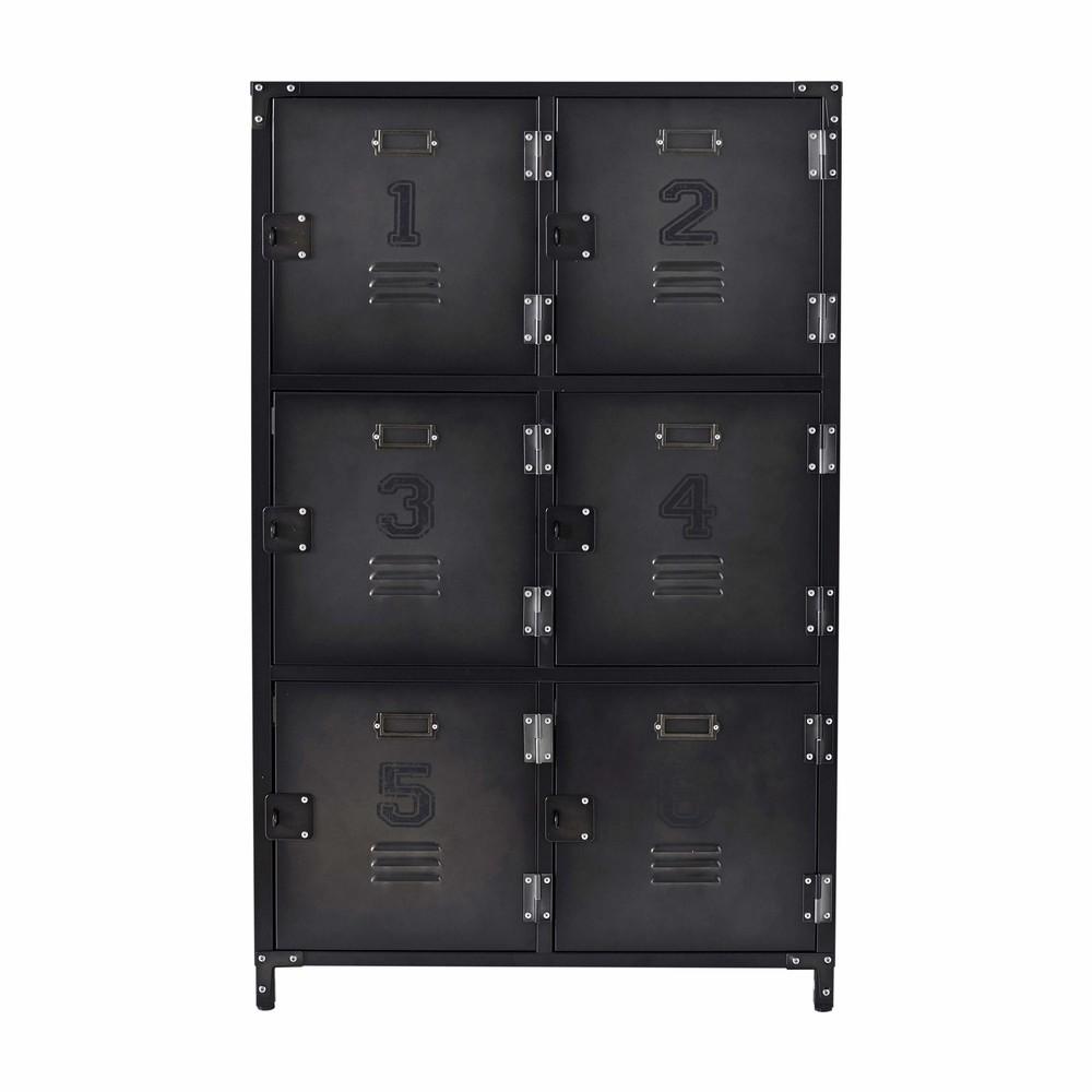 Cabinet de rangement indus 6 casiers en métal