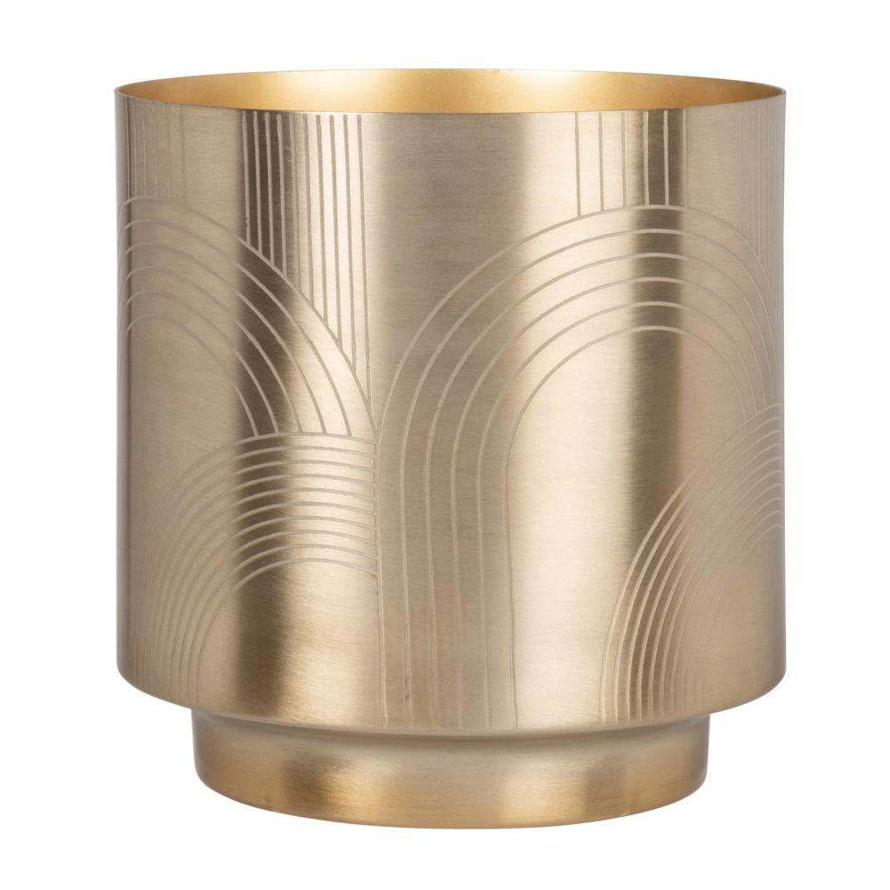 Cache-pot en métal doré à motifs H17 (photo)