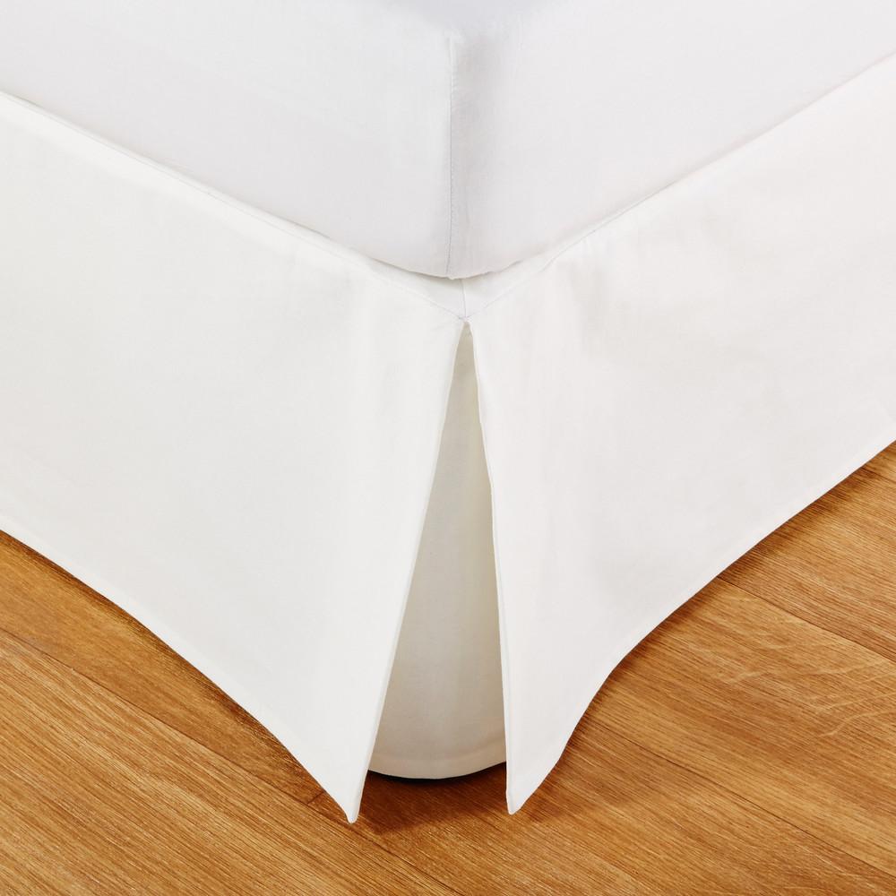 Cache-sommier 180x200 en coton ivoire
