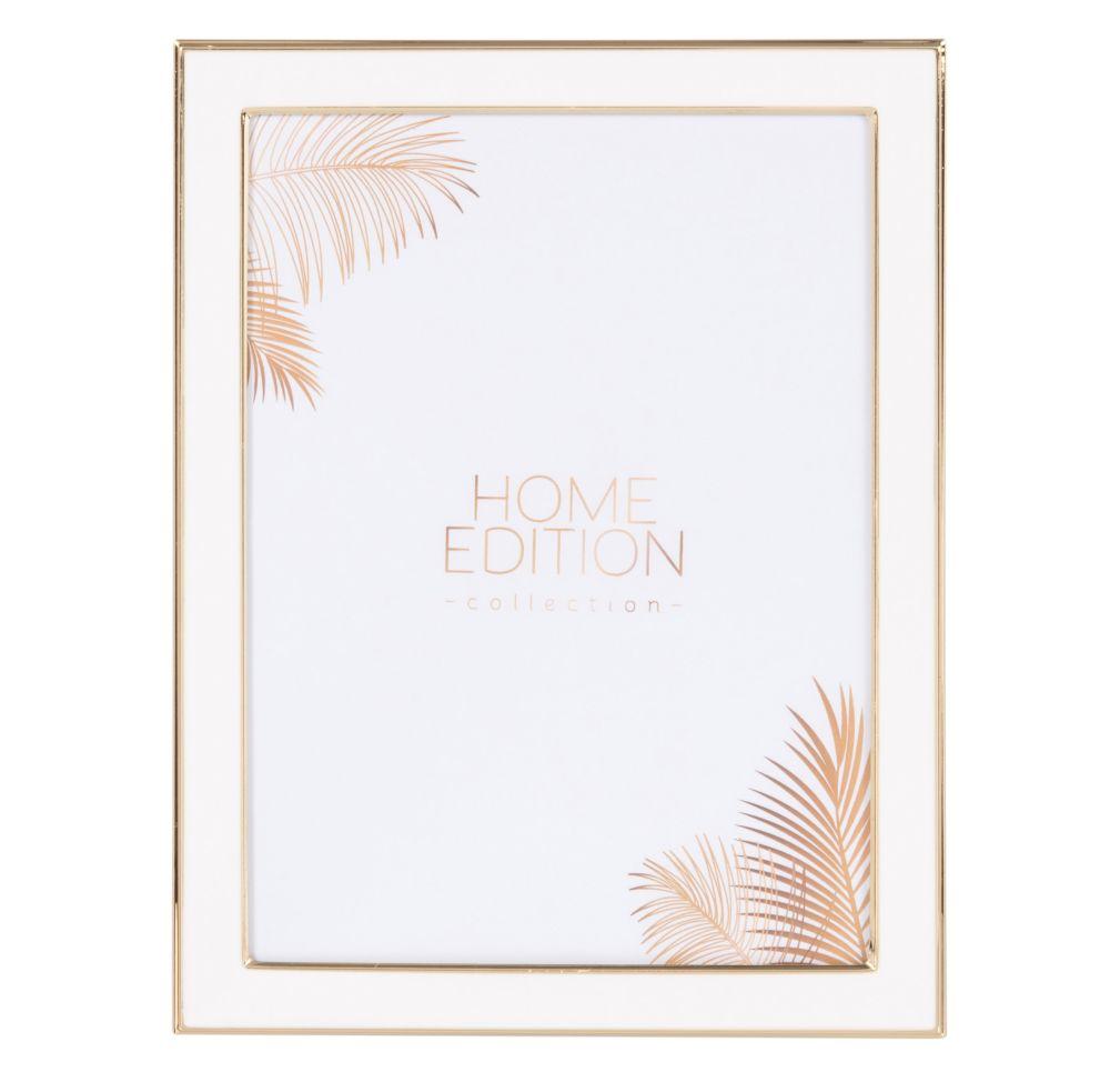 Cadre photo blanc et doré 15x20