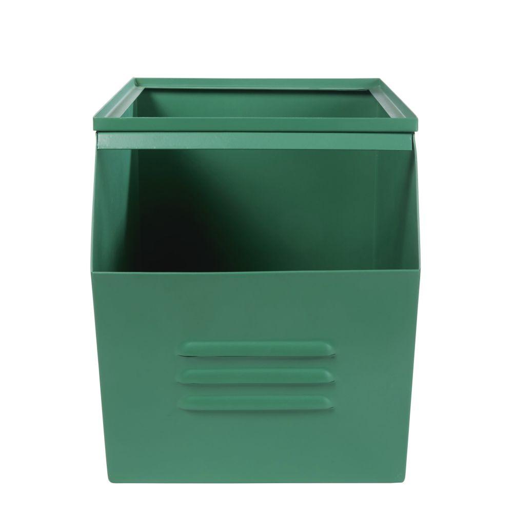 Caisse à Jouets En Métal Vert
