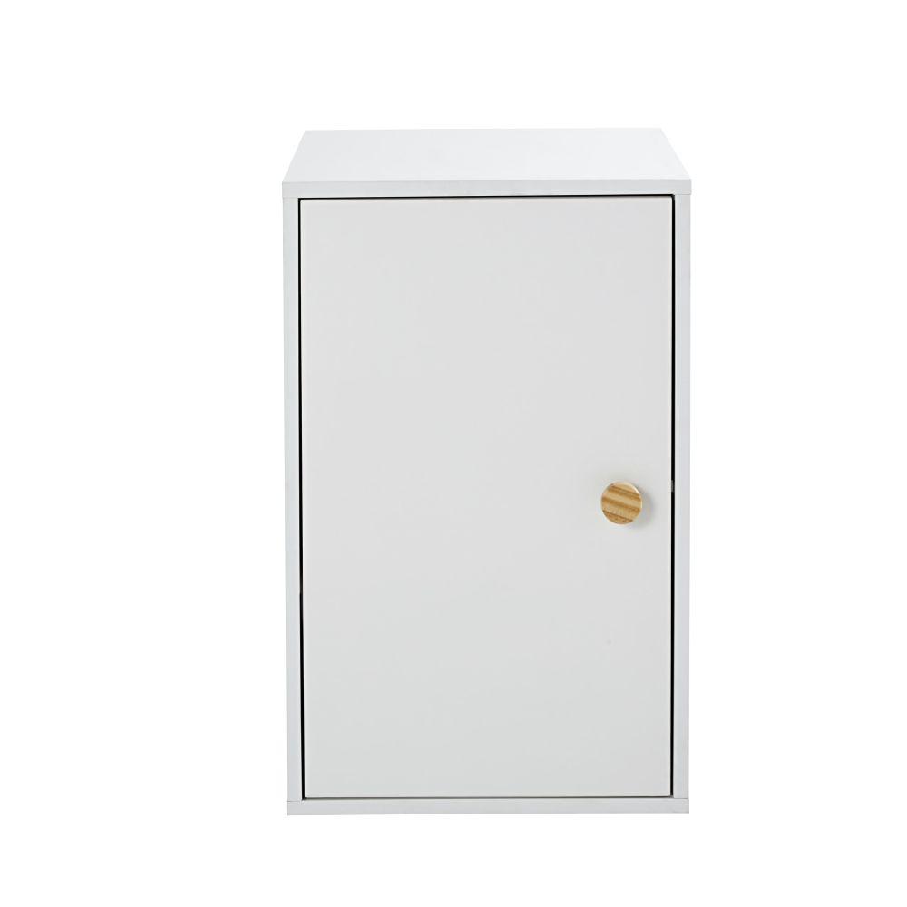 Caisson pour bureau modulable 1 porte blanc