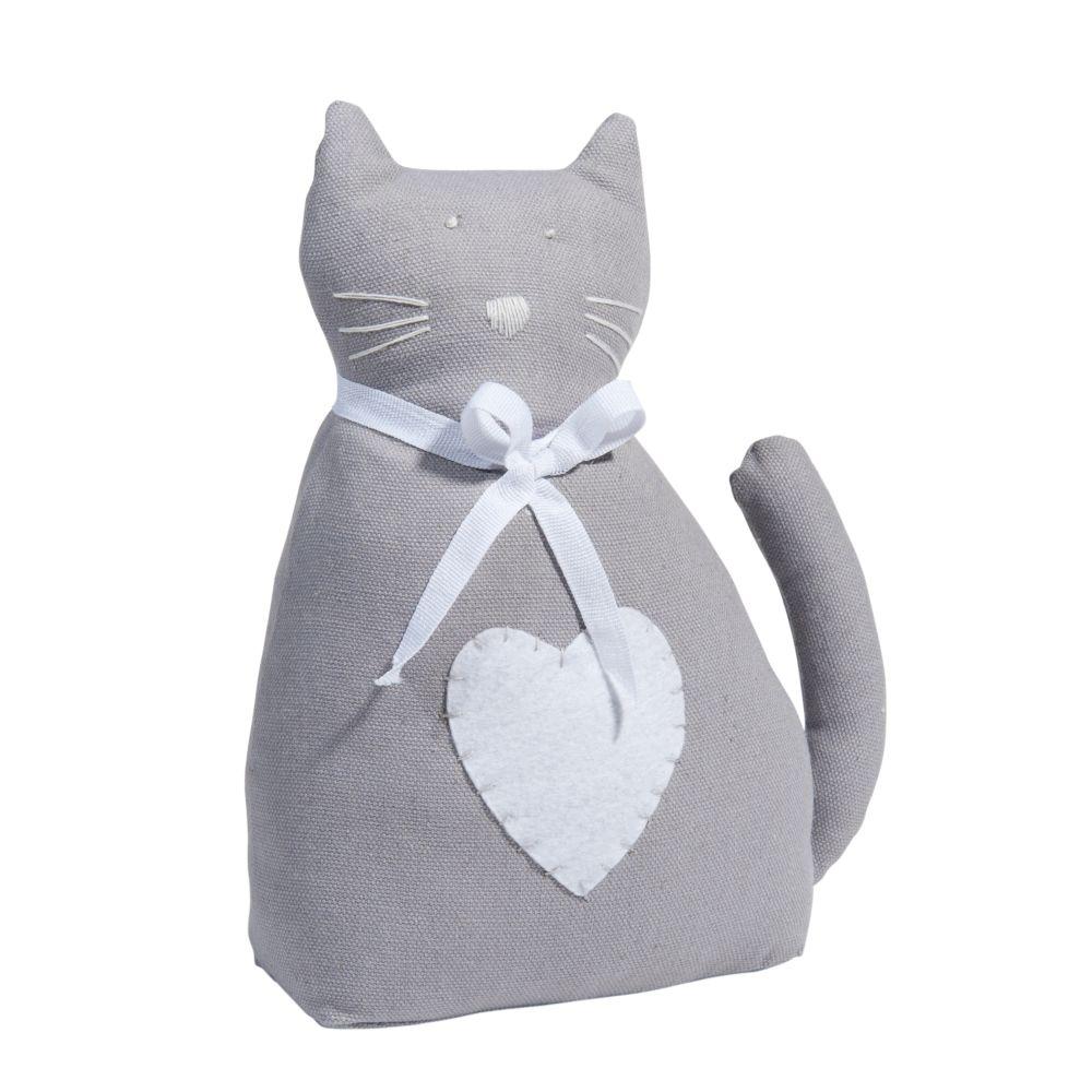 Cale-porte chat gris