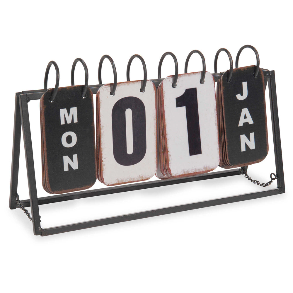 Calendrier perpétuel en métal 16x27
