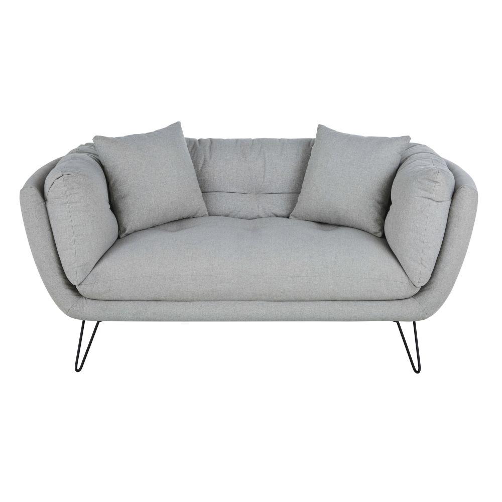 Canapé 2/3 places gris