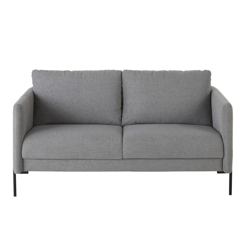 Canapé 2 places gris chiné