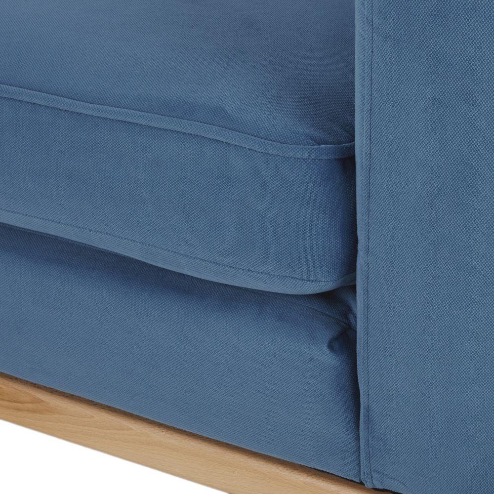 Canapé 3/4 places bleu