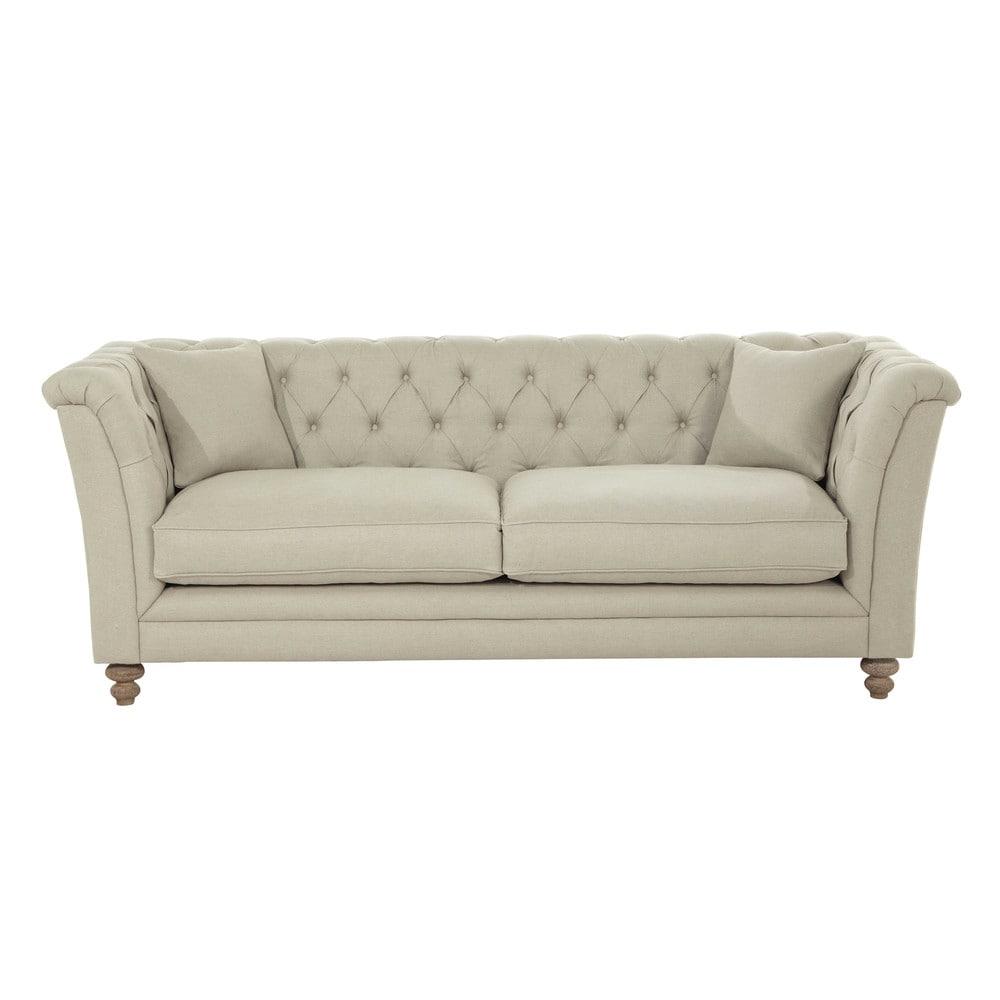 Canapé 3/4 places en lin