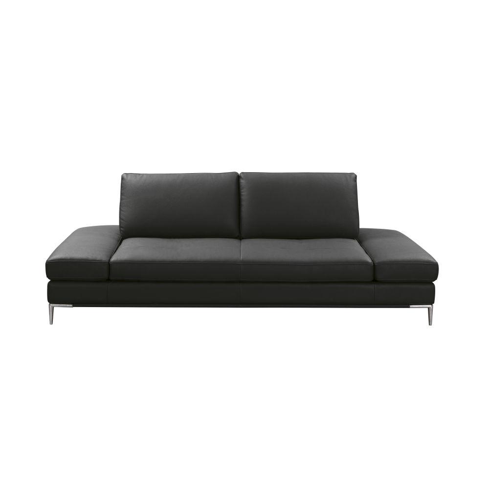 Canapé 3/4 places en textile enduit noir