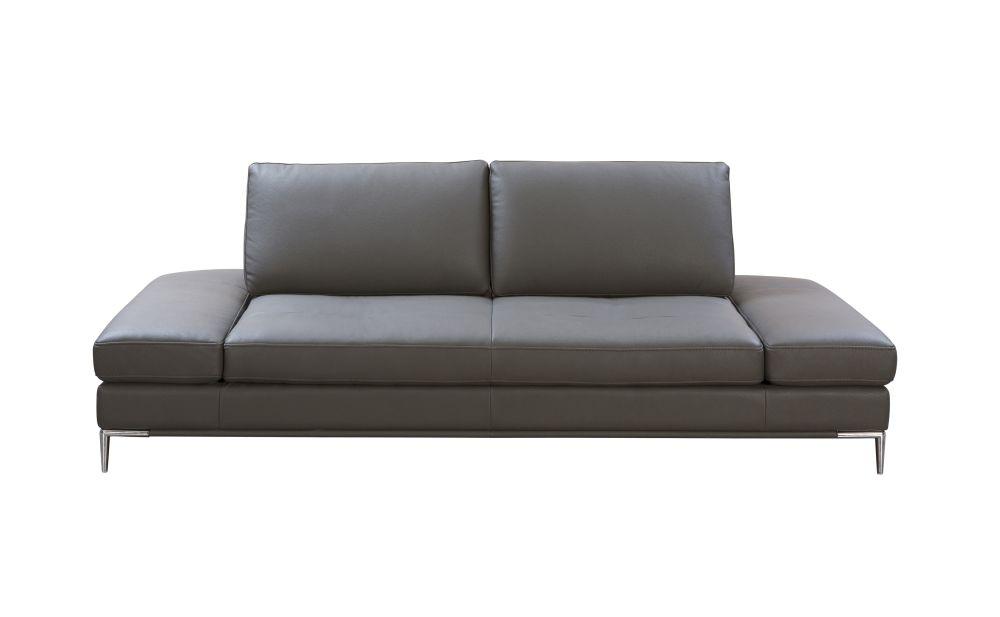 Canapé 4 places en textile enduit gris anthracite