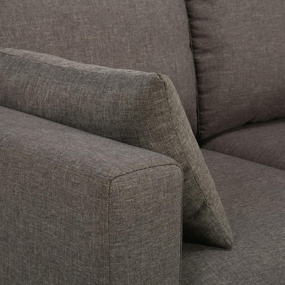 Canapé d'angle 3/4 places gris chiné