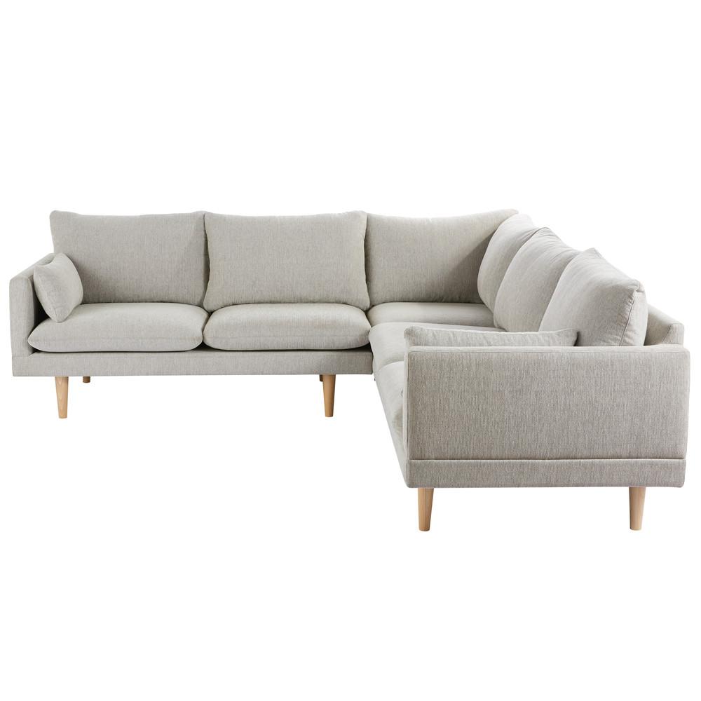 Canapé d'angle 5 places gris clair