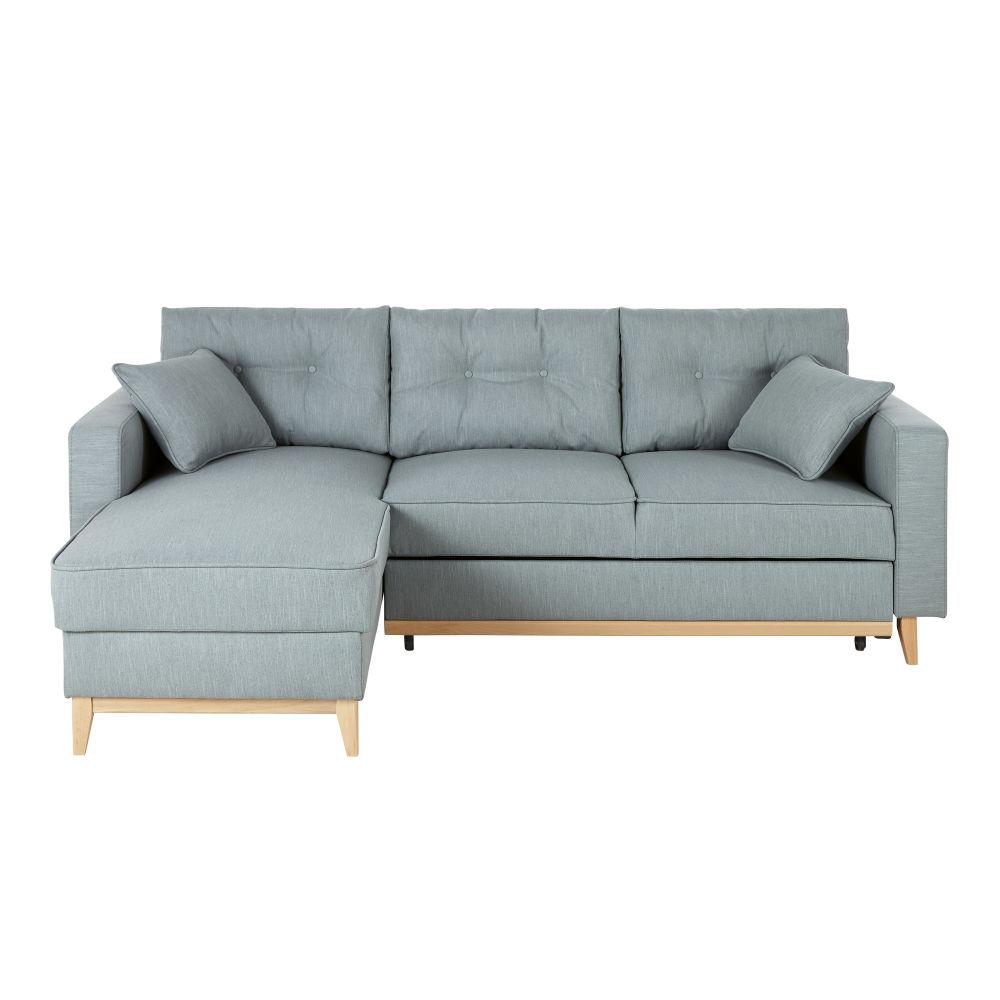 Canapé d'angle 5 places Bleu Confort